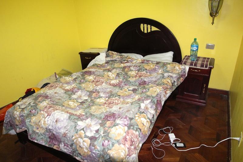 シングルだけどベッドは大きい。