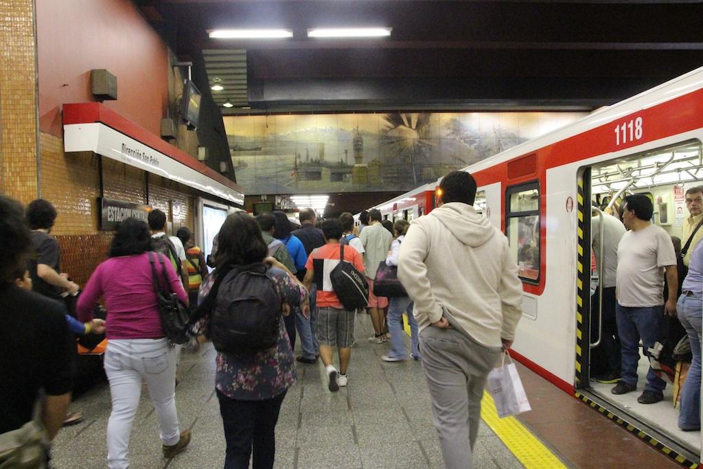サンティアゴは地下鉄もあり都会!