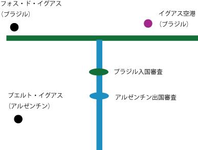 簡単な位置関係の地図T字の別れ道で降ろしてくれた。