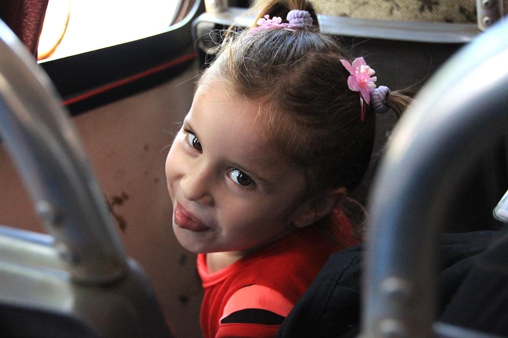 バスの中で会った女の子