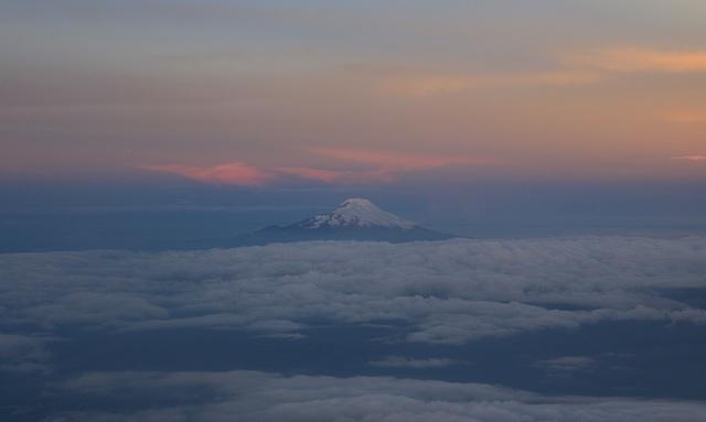 飛行機から見えた山