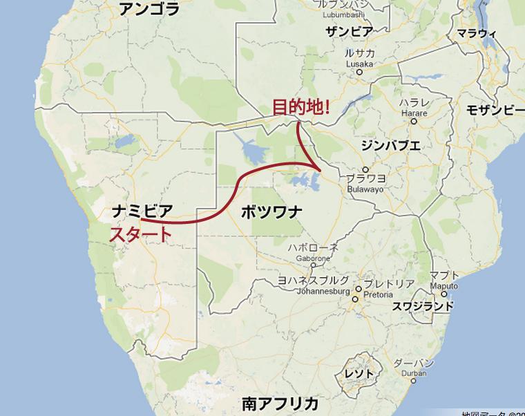 ルートの地図