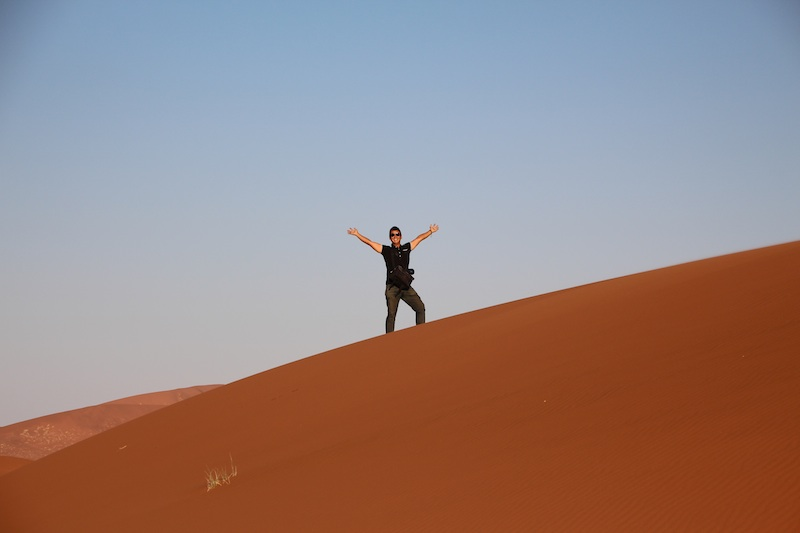 ハン君砂漠1