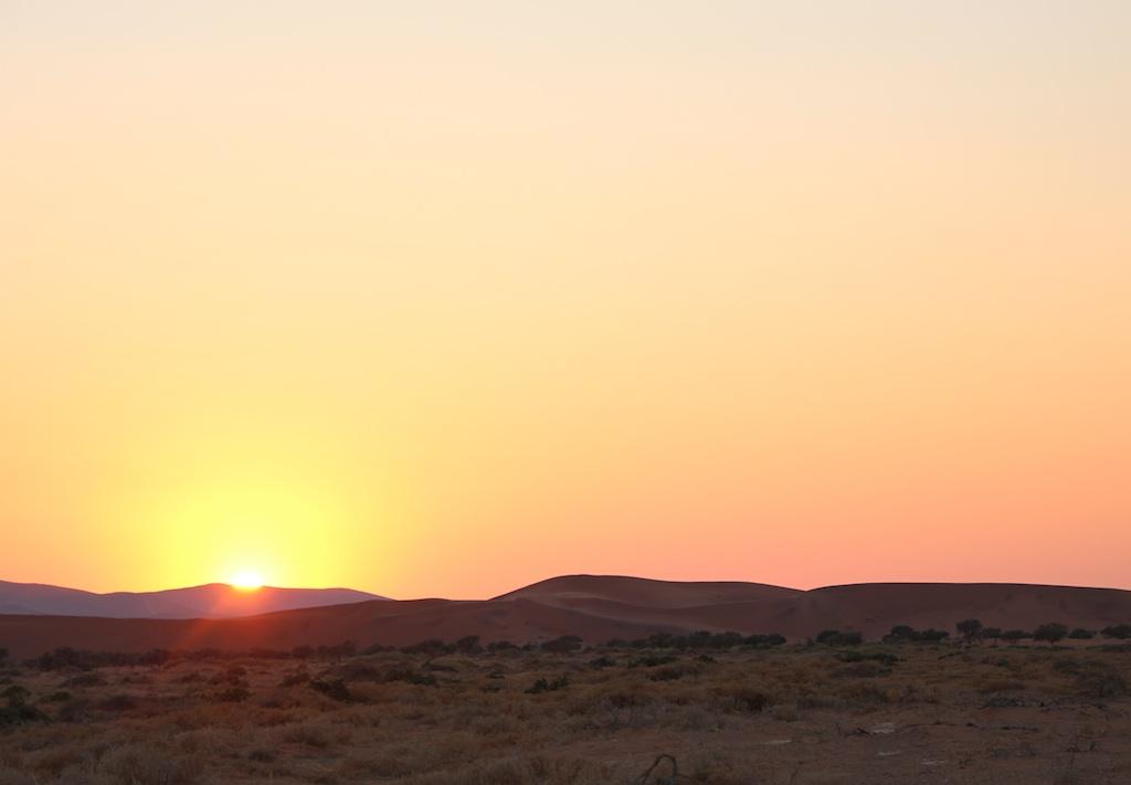 日の出in砂漠