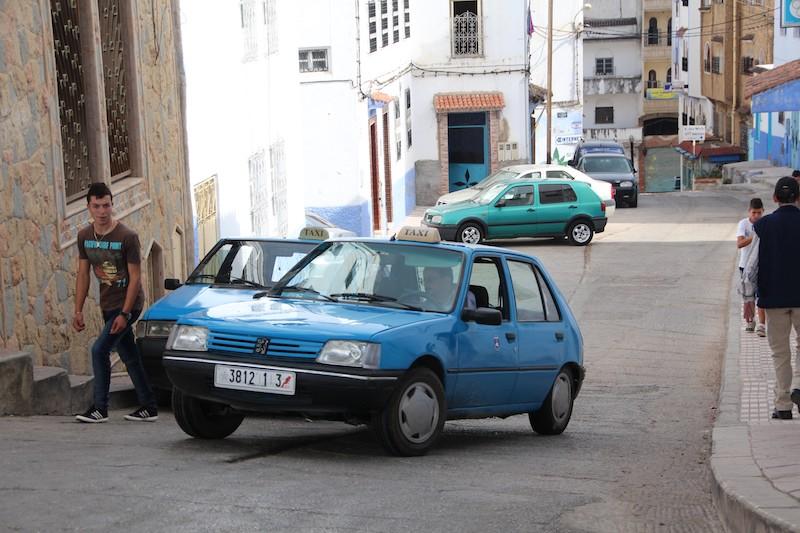 5青いタクシー